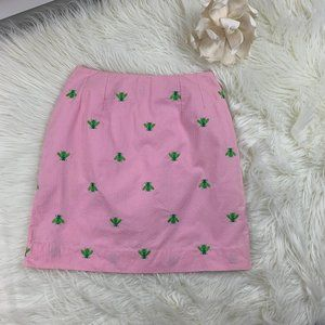 Lilly Pulitzer Embroidered Bee Skirt Women's SZ 2